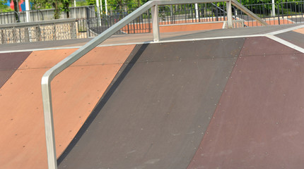 skateboard at skatepark