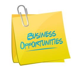 business opportunities memo post illustration