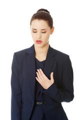 Businesswoman heart disease