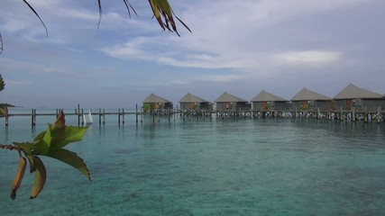 Footage of water villa holiday resorts in maldives