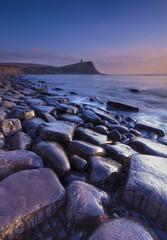 Rocky Dorset Coastline at sunset