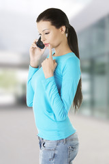 Woman calling by phone
