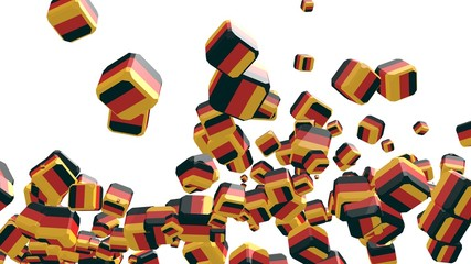 flying boxes with germany national flag