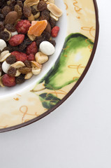 Mixed Nuts and Dried fruits in a Dish