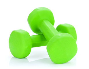Two green dumbells