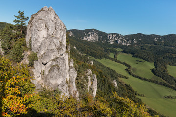 rock formation in Sulov Mountains, Slovakia