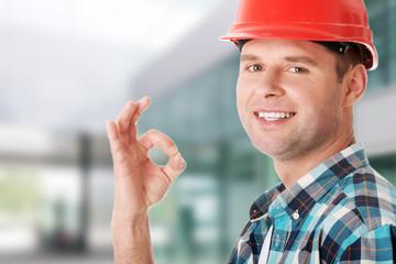 Engineer gesturing OK