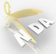 NDA Non Disclosure Agreement Scissors Cutting Letters Acronym