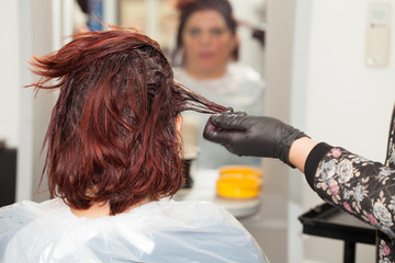 Client At Hairdresser