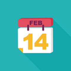 flat, icon, illustration, shadow, vector, february, valentine, r