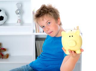 boy with piggy-bank