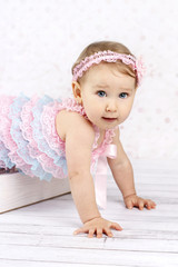 Crawling little baby