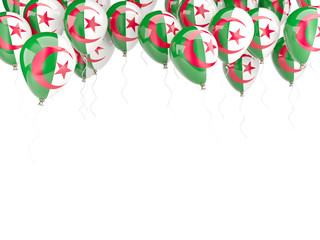 Balloon frame with flag of algeria