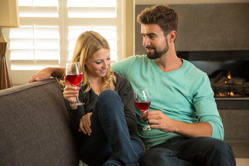 Couple enjoying a romantic date