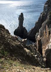 高知県柏島のロウソク岩
