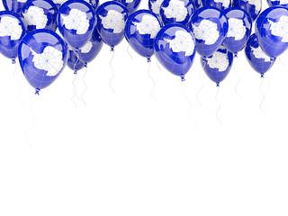 Balloon frame with flag of antarctica