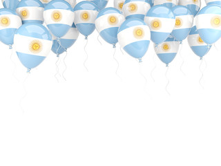 Balloon frame with flag of argentina