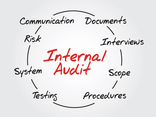 Hand drawn Internal Audit - Business Vector Concept