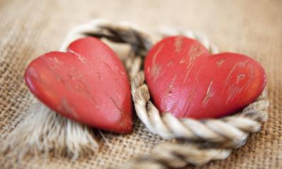coeurs unis par une corde