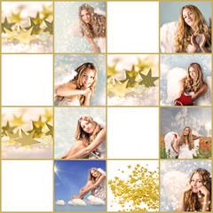 Frohe Weihnachten: Geschenkanhänger mit Engel und Sternen :)