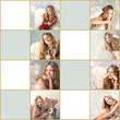 Frohe Weihnachten: Geschenkanhänger mit blondem Engel :)
