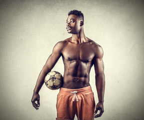 A handsome footballer