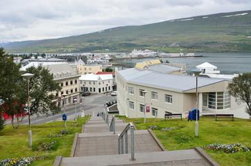 Северная столица Исландии - Акюрейри в дождь