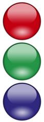 Symbol Patch Ampel RGB Weiß