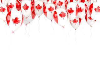 Balloon frame with flag of canada