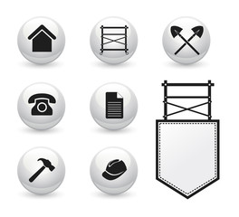 Set of icons for Scaffolding Company