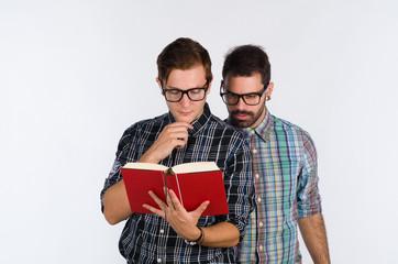 Nerds reading