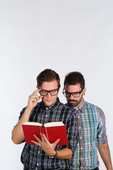 Nerds reading
