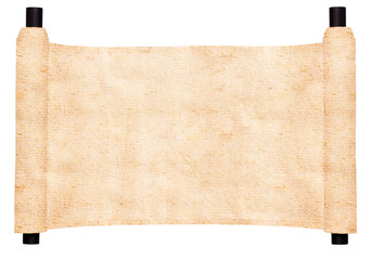 old horizontal scroll isolated on white