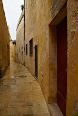 Rainy day in Mdina - Silent City, Malta Island