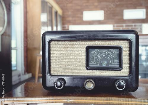 fototapeta na ścianę Radio rocznika obiektu retro