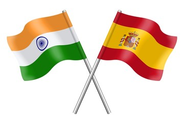 Flags: India and Spain