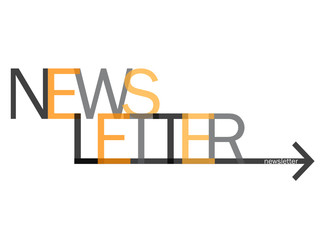 """NEWSLETTER"" Text with Arrow (news rss info marketing)"