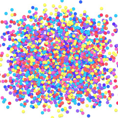 Vector Carnival Confetti background. New Year or Birthday