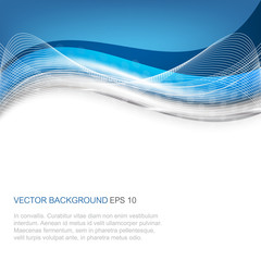 Abstract vector illustration with wave on a clean background