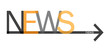 """NEWS"" Text with Arrow (newsletter rss info marketing)"