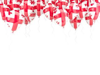 Balloon frame with flag of georgia