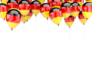 Balloon frame with flag of germany