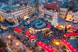 PRAGUE,CZECH REPUBLIC-JAN 05, 2013: Prague Christmas market