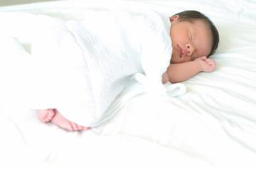 Carefree sleep little baby.
