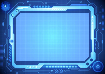 abstract computer technology concept  background, vector