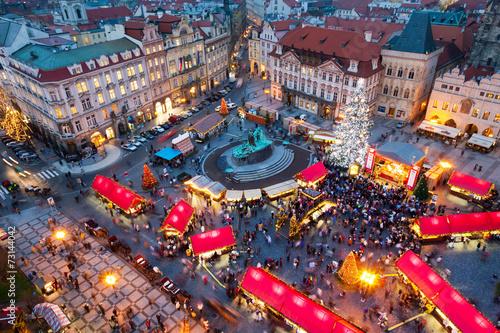 PRAGUE,CZECH REPUBLIC-JAN 05, 2013: Prague Christmas market Poster