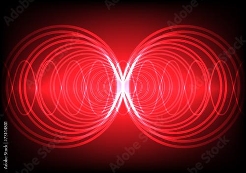 Zdjęcia na płótnie, fototapety, obrazy : Abstract background wave surround technology