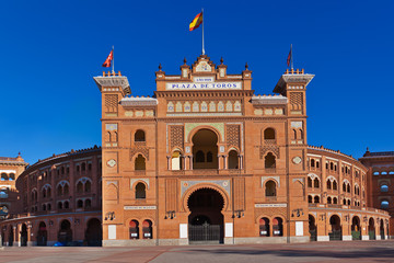 Bullfighting arena in Madrid Spain