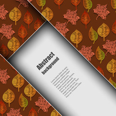 Brochure template with autumn background.