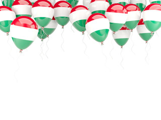 Balloon frame with flag of hungary